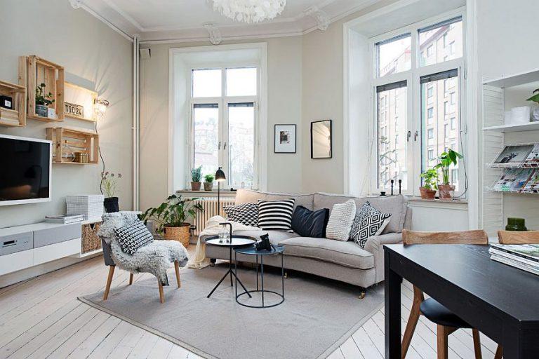 Scandinavian-style living rooms
