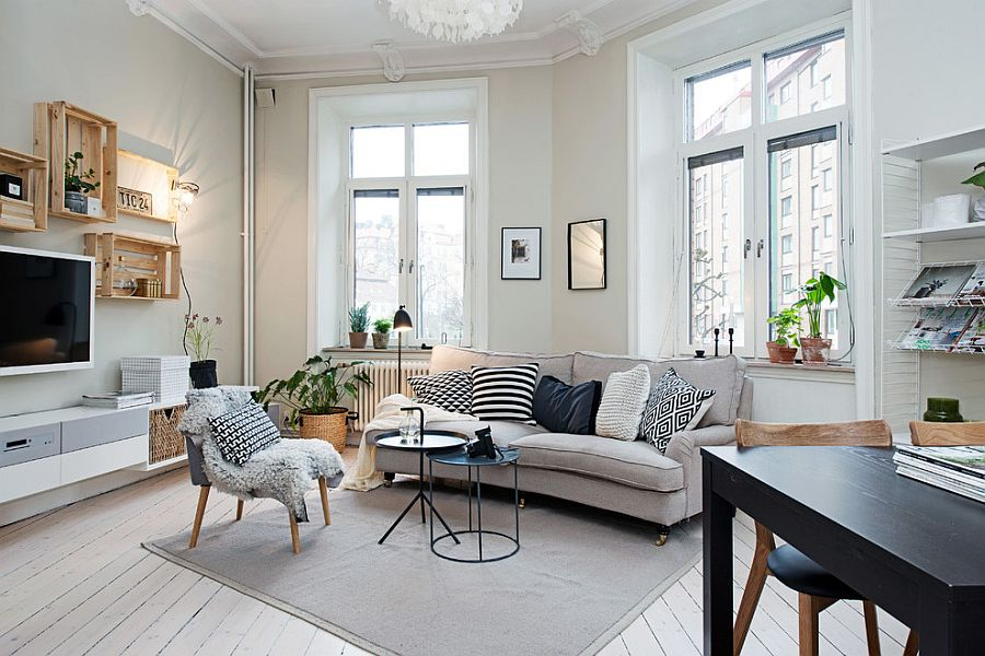 Scandinavian-style living rooms