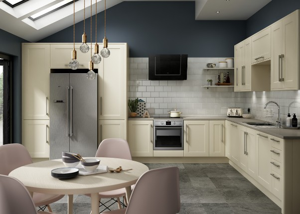 The Warwick Shaker Ivory kitchen from Benchmarx Kitchens and Joinery 1