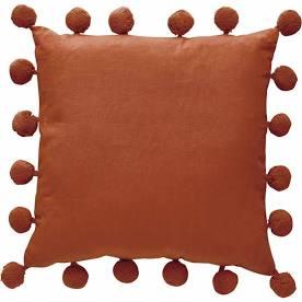 Wilko Terracotta Pom Pom Cushion