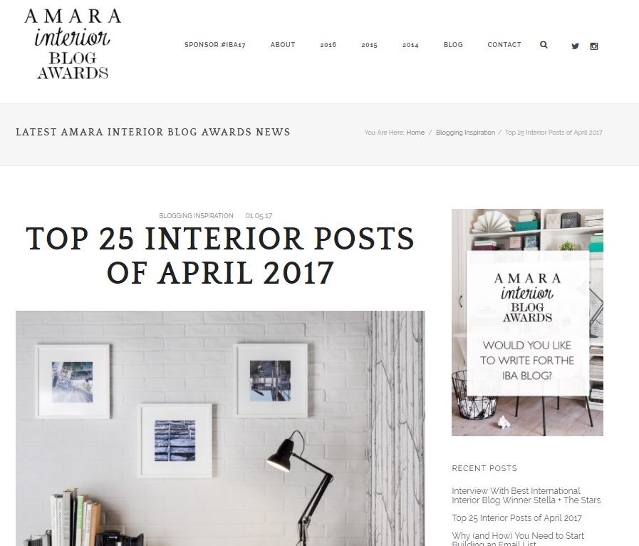 My Unique Home featured on Amara Living's Blog