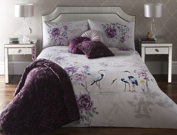Kumiko Plum Bedding by J ROSENTHAL & SON