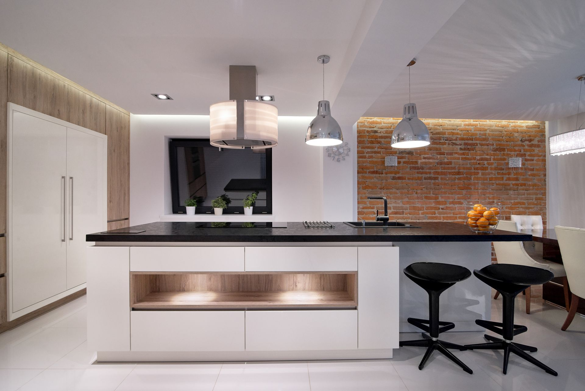 industrial-inspired kitchen