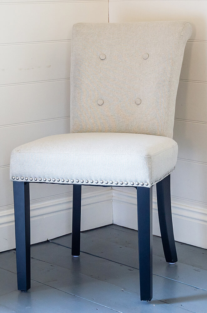 Cream Linen Giovanni Chair