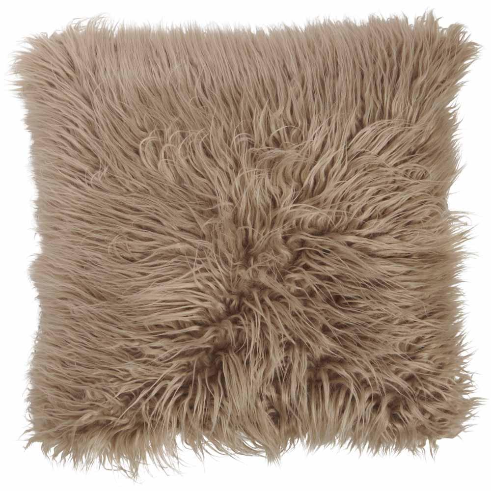 Wilko Humus New Faux Mongolain Cushion