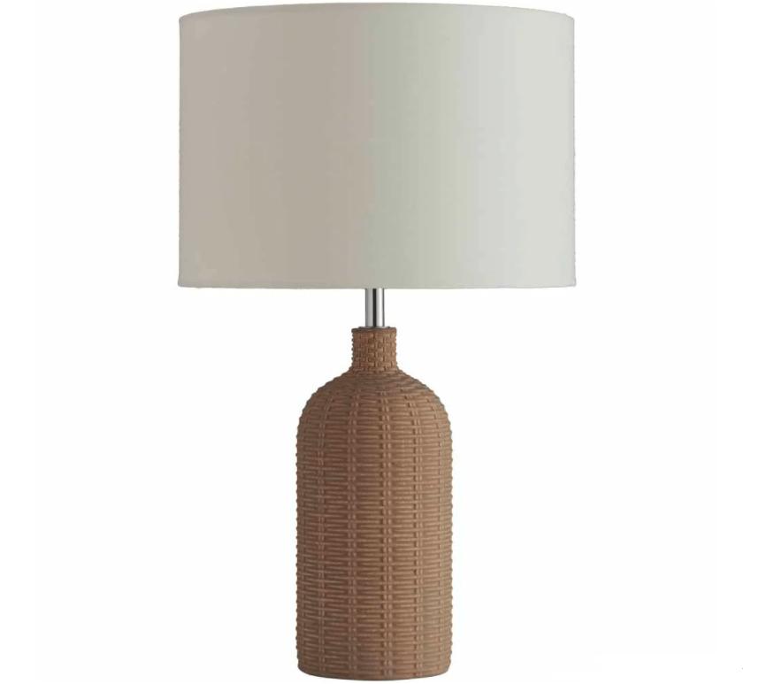 Wilko Natural Wicker Effect Table Lamp